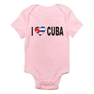 I LOVE CUBA - Cuban / Flag / Caribbean / Novelty Themed Baby Grow / Romper