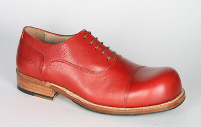 181 Hobo Normalissime Charly Marcelle Blood Red Quadro Cucita Scarpe-