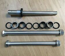 YAMAHA TY250 MONO HE15 LIGHTWEIGHT FRONT, REAR & SWINGING ARM SPINDLE SET