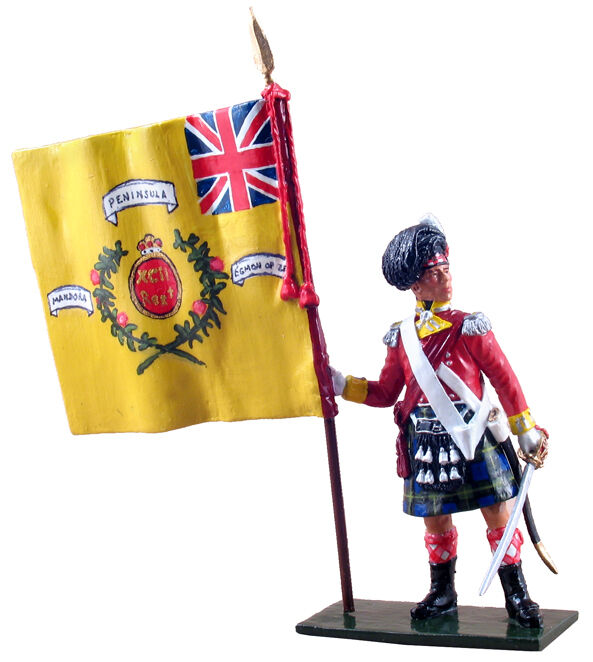 BRITAINS 44051 Napoleonic Ensign, 92nd Gordon Highlanders Collecters Club Figure