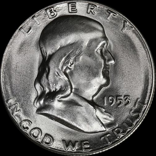 1953-S Franklin Half Dollar Choice BU