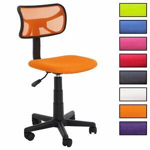 Détails sur Chaise de bureau pour enfant fauteuil sans accoudoirs et hauteur réglable