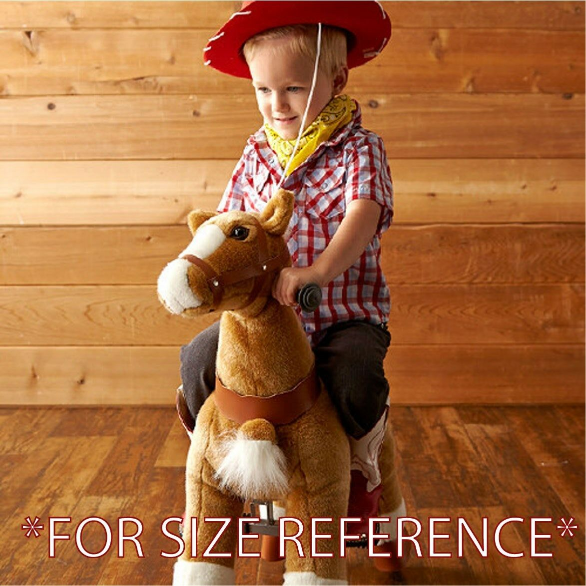 FUN Plush SMALL Horse pony Ride-on scooters BROWN WHITE (kids Age 2-5) (01E) USA