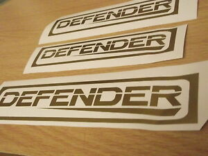 Defender rear panel sticker + extra's