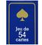 JEU-DE-54-CARTES-poker-bridge-rami-ect-rouge-ou-bleu miniature 1