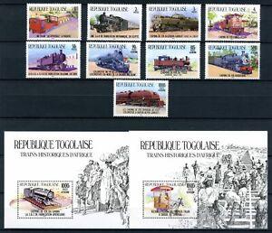Togo Block 256-57 + MiNr. 1807-16 postfrisch MNH Eisenbahn (Eis515