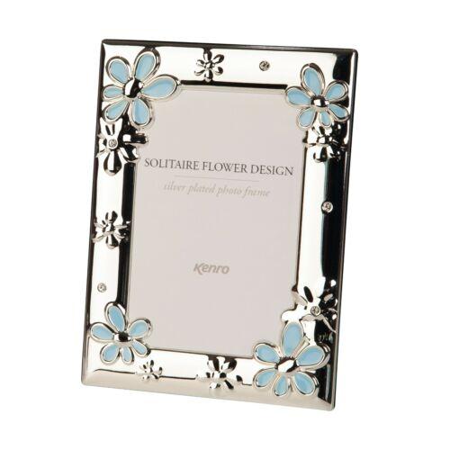 """Kenro solitaire Série Rose /& Bleu Fleur Photo Cadre Photo-Taille 6x4/"""""""