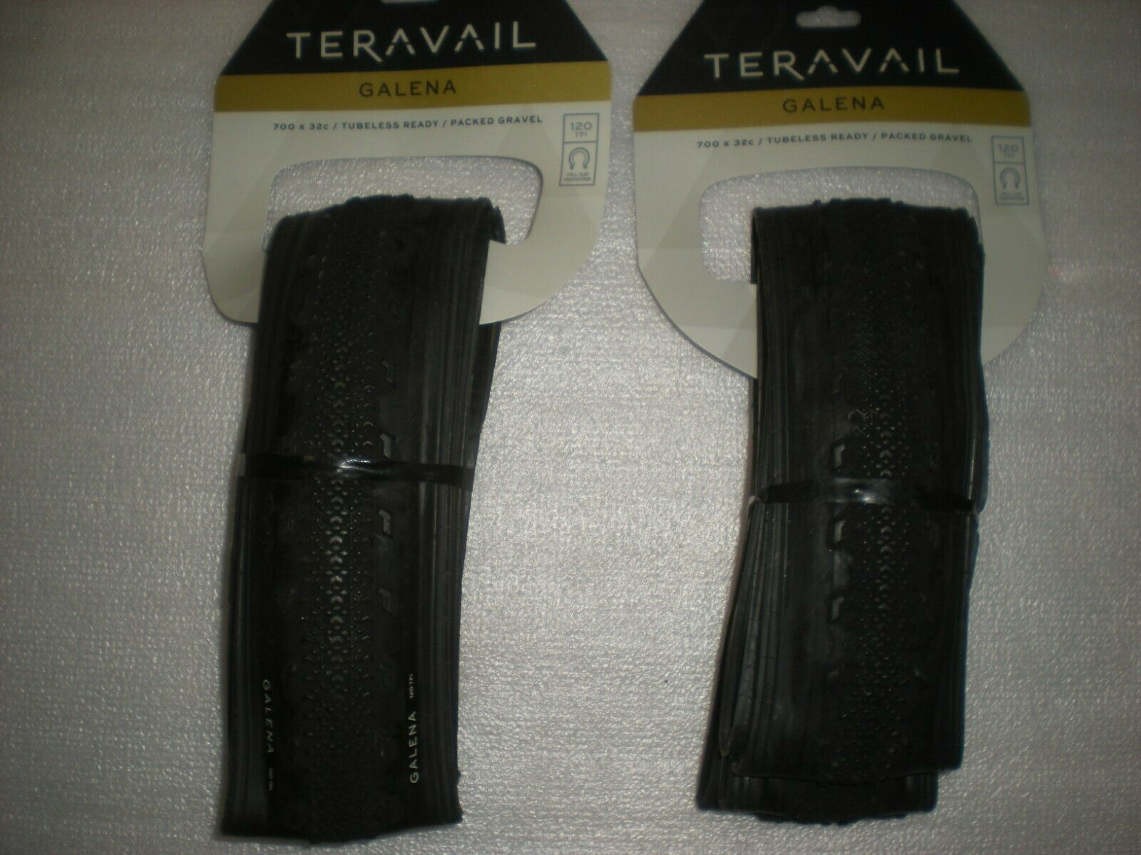Teravail Galena 700 x 32 Tubeless 120 tpi Folding Gravel PAIR of Tires NEW