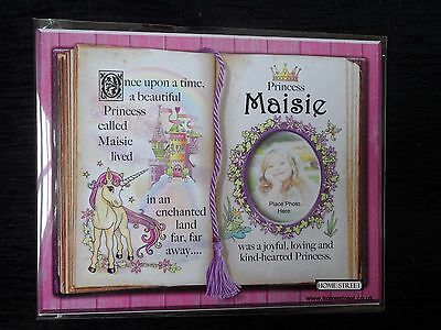 Maisie Princess Unicorn Mount Gift With Verse And Photo Space Choose A Frame