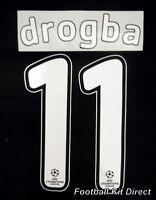 Chelsea Drogba 11 2007/08 Uefa Champions League Final Football Shirt Name Set
