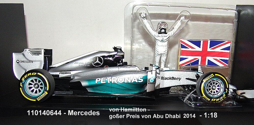 Minichamps 110140644-MERCEDES AMG Petronas f1 WINNER Abu Dhabi 2014 - 1:18
