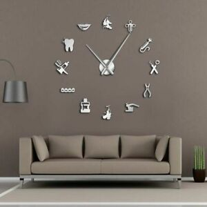 Dental-Clinic-Wall-Clock-3D-DIY-Acrylic-Mirror-Effect-Watch-Needle-Quartz-Clocks