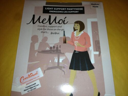 MeMoi Sheer or Light Support Energizing Leg Support Pantyhose MS-600 or  MS 601