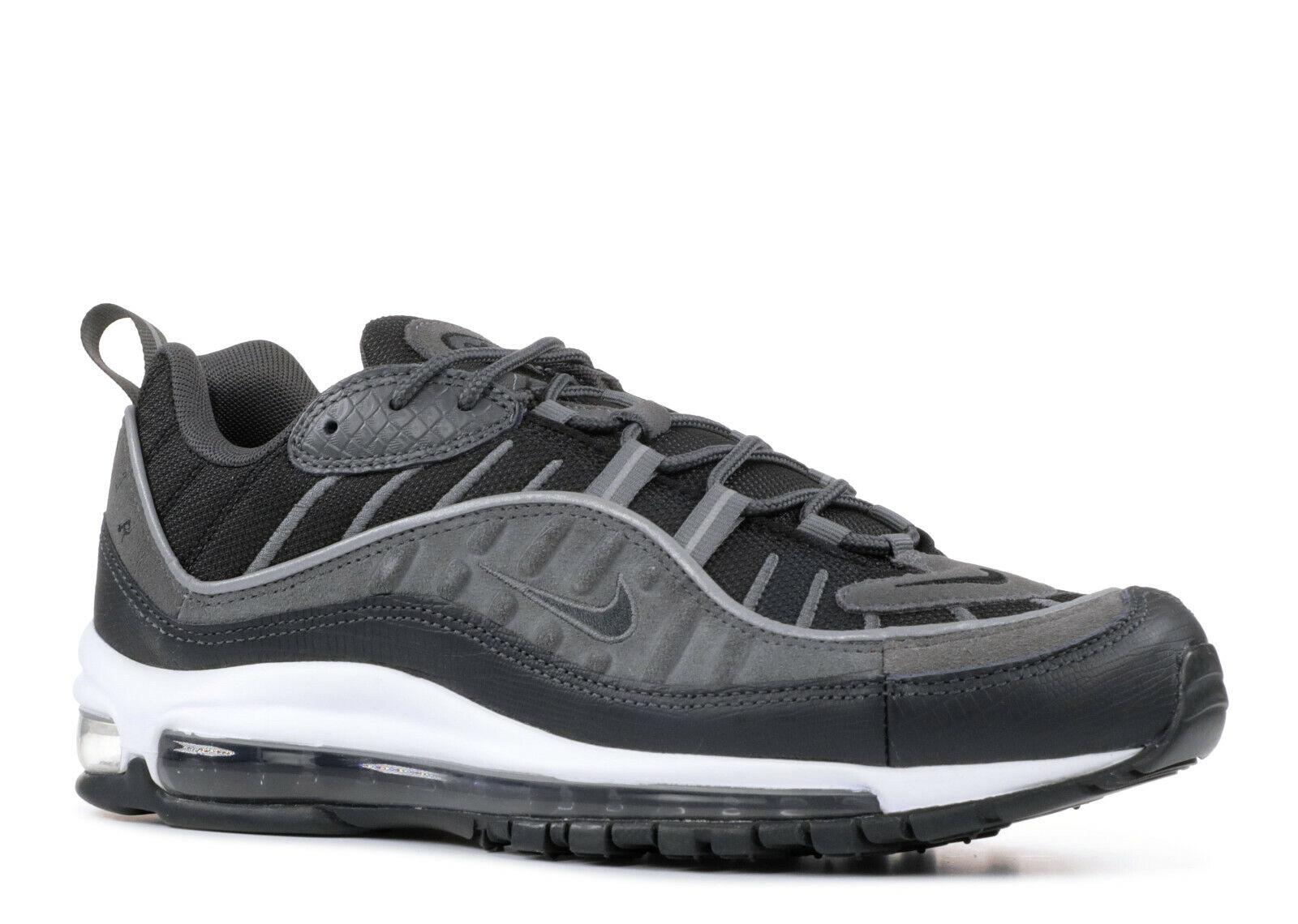 New Men's Air Max 98 SE Black Anthracite Dark Grey size 9 AO9380 001
