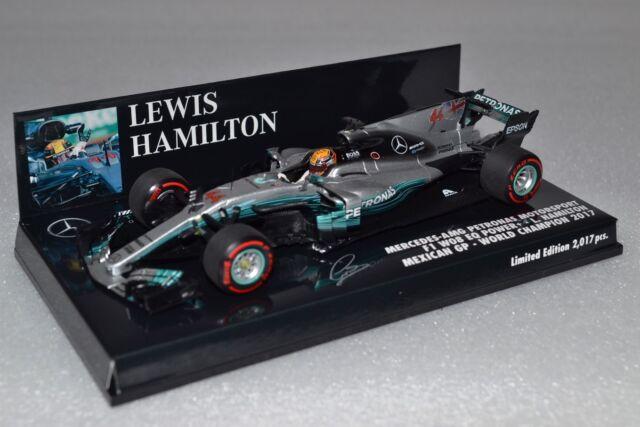 Minichamps F1 Mercedes W08 Lewis Hamilton 1/43 Mexico GP 2017 World Champion !