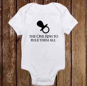 ce5db3783 Details about One Ring to Rule Them All - Game Of Thrones Baby Clothes -  Funny Baby Onesies