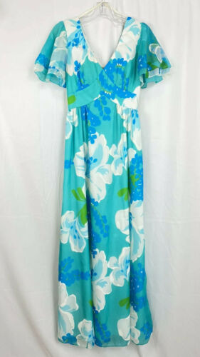 Vintage 60s Malia Honolulu Dress Size 8 Empire Wai