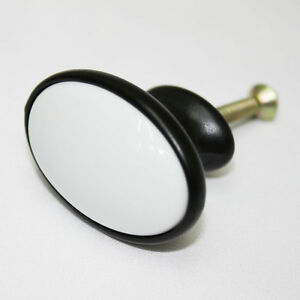 Black-White-Ceramic-41-mm-Knob-Furniture-Cabinet-Drawer-Kitchen-Pulls-AAE-25