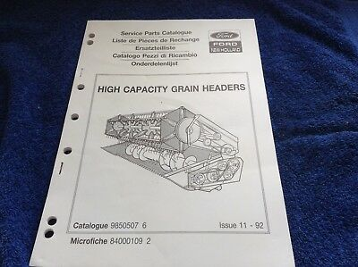 Ford New Holland High Capacity Grain Headers Catalogue Let Our Commodities Go To The World Other Tractor Publications
