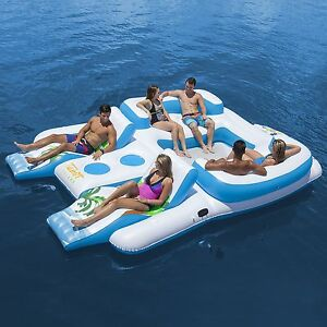 Giant 6 Person Inflatable Raft Pool Tropical Tahiti Ocean