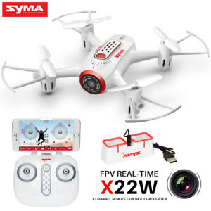 Details about RC Drone with Camera Syma X22W 2 4G 6Axis Gyro APP FPV Live  Video Quadcopter