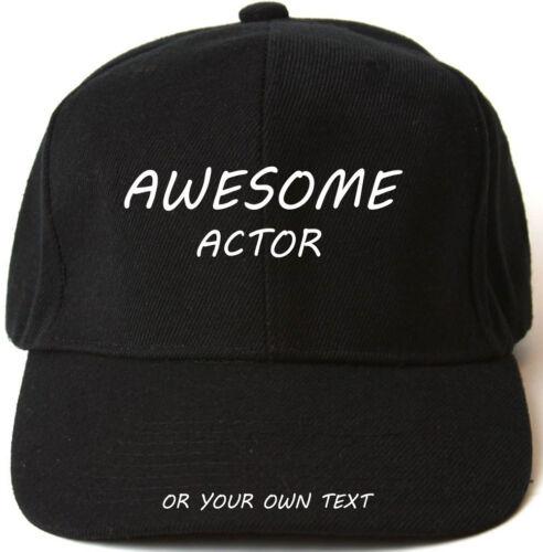 AWESOME ACTOR PERSONALISED BASEBALL CAP HAT XMAS GIFT