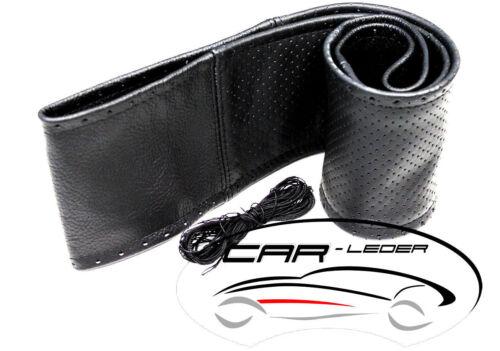 Lenkradschoner zum Schnüren Schwarz Glat-Gelocht passend für Volvo FH4 FH12