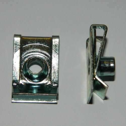 5 Stk metrische Schnappmuttern M5 Stahl verz Blechmutter  für Fiat