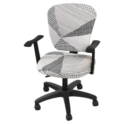 Printed Spandex Computer Chair Cover Office Seat Cover Slipcover Removable GET