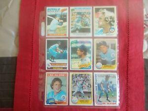 GEORGE BRETT-(25) CARD LOT TOPPS/FLEER/DONRUSS 1970's/1980's EXC.-NM CONDITION