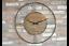 70cm-Large-Skeleton-Edge-Distressed-Gold-Grey-Metal-amp-Wooden-Circular-Wall-Clock thumbnail 1