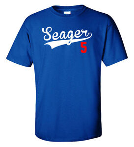 """Corey Seager Los Angeles Dodgers """"Seager 5"""" jersey T-shirt Shirt or Long Sleeve"""