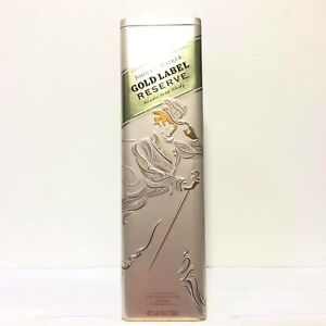 Details About Johnnie Walker Gold Label Reserve Empty Tin Box Limited Edition Design