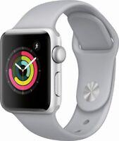 Apple Series 3 38mm GPS Aluminum Case Sport Band Smartwatch (Silver)