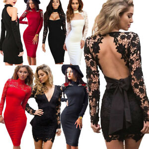 Womens-Bandage-Bodycon-Dress-Ladies-Cocktail-Evening-Party-Pencil-Mini-Dress-Lot