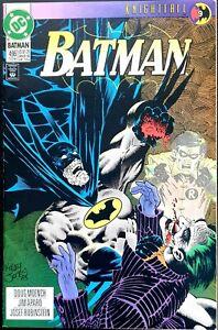 BATMAN-496-NM-KNIGHTFALL-Part-9-THE-JOKER-SCARECROW-ROBIN-BANE-DC-Comics-1993