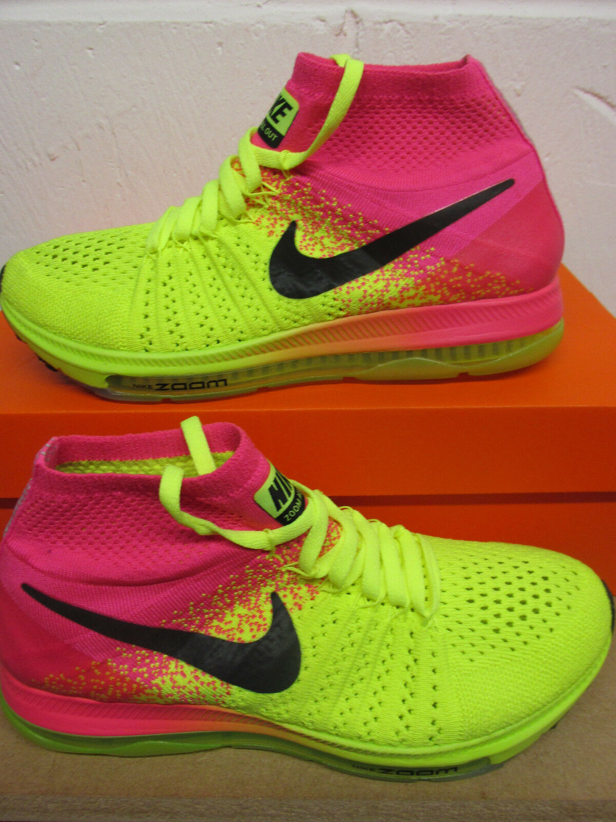Nike Womens Zoom Bll Out Flyknit OC Running Trainers 845717 999 Sneakers Shoes