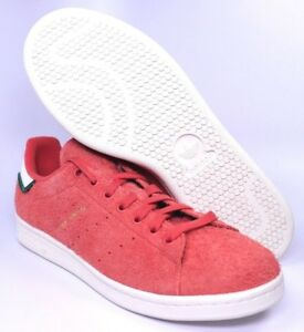 Adidas Stan Smith Mens Orange Hairy Suede Tennis Shoes Size