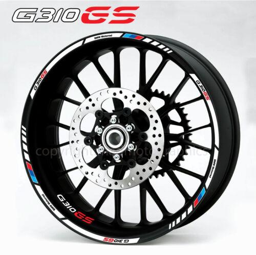 BMW G310GS motorcycle wheel decals stickers set rim stripes g310 GS Motorsport