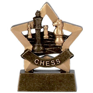 CHESS TROPHY ENGRAVED FREE CHECKMATE PAWN KING QUEEN BISHOP MICRO STAR TROPHIES