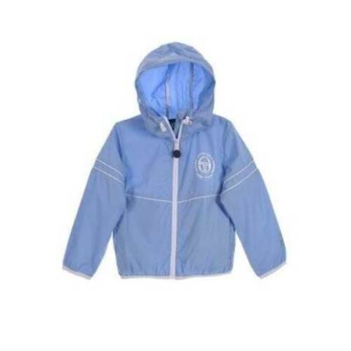 Giacca a vento bambino giubotto estivo leggero da bimbo blu bianco azzurro nuovo