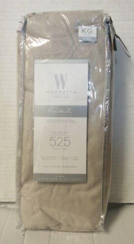 Wamsutta 525-Thread-Count PimaCott King  Flat Sheet Solid  SILVER