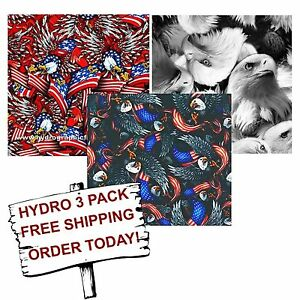 HYDRO DIP HYDROGRAPHIC FILM WATER TRANSFER PRINTING FILM EAGLE 3 PACK