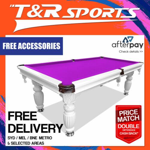 8ft purple felt slate solid pool table