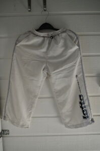 SHORT-Bermuda-long-Enfant-Garcon-LOTTO-9-10-ANS-Blanc-100-polyester