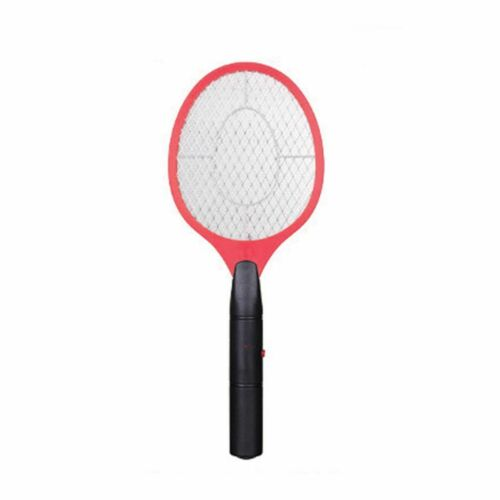 Red Handheld Electric Fly Swatter Mosquito Racket Bug Zapper Insect Killer