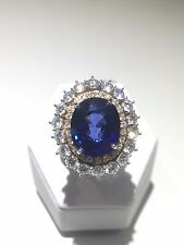 Anello oro 18kt con zaffiro e diamanti/Gold 18kt Ring with sapphire and diamonds