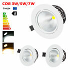 Dimmable 3W 5W 7W COB LED Downlight Kit Fixture Recessed Ceiling Light Lamp Bulb