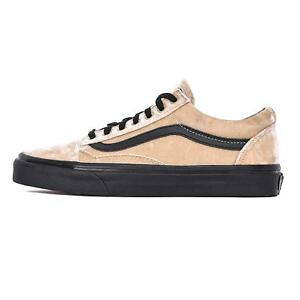 ad6713bfb99 Vans Unisex Old Skool Velvet Tan Black Skate Shoes Mens 7 10 11 NEW ...