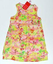 Oilily 116 6 Dress Tielke Bird Floral Racerback Jersey Girls NEW kg1